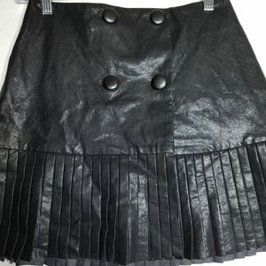Zara faux leather pleated skirt Sz S